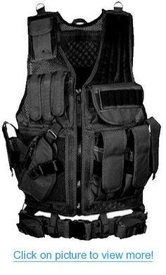 Ultimate Arms Gear Stealth Black Tactical Scenario Military Hunting Assault Vest w/ Lefty Left Hand Quick Draw Pistol Holster #Ultimate #Arms #Gear #Stealth #Black #Tactical #Scenario #Military #Hunting #Assault #Vest #w_ #Lefty #Left #Hand #Quick #Draw #Pistol #Holster