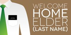 Welcome Home Elder Banner | www.signs.com #mormon #missionary