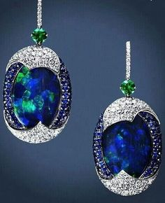{Black Opal, emerald beauty bling jewelry fashion
