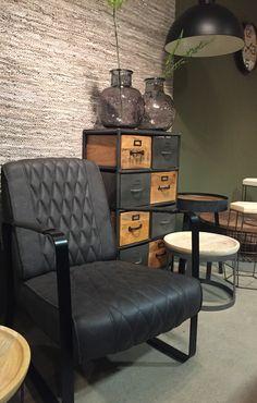 Fauteuil Cora Antraciet | DOK2 #antraciet #style #interior #design #fauteuil #Cabinet #kast #industrieel