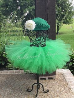 Pretty Green Tutu in Baby to Adult Sizes