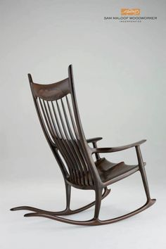 Ziricote Rocking Chair by Sam Maloof Woodworker Inc.  Alta Loma, California  http://www... pinned with Pinvolve