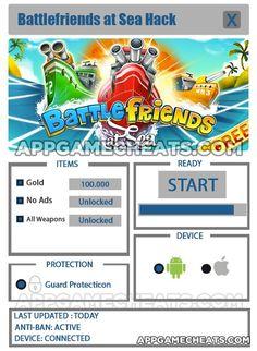 BattleFriends at Sea Hack & Cheats for Gold, No Ads, & All Weapons Unlock  #Arcade #BattlefriendsatSea #Strategy http://appgamecheats.com/battlefriends-at-sea-hack-cheats/