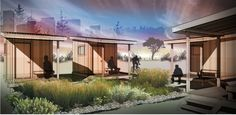 """In an effort to ease Portland's homeless crisis, the City of Portland sponsored 14 teams of local designers to create tiny """"sleeping pods"""" to house homeless people this winter. Airport Sleeping Pods, Northwest College, Betty Design, Solar Power Batteries, Portland City, Once In A Lifetime, Beautiful Architecture, Good News, Beautiful Homes"""