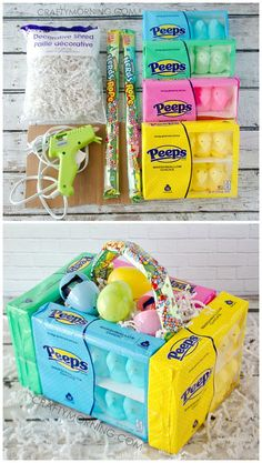 Peeps on a stick are easy to make and only take a few supplies edible peeps marshmallow easter baskets for the kids cute diy craft to make negle Image collections