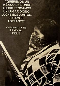 La Comandanta Ramona en Chiapas, 1994 - foto por Stephanie Wood