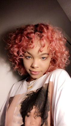Hair And Beauty Dublin Short Curly Hair, Wavy Hair, Dyed Hair, Curly Hair Styles, Natural Hair Styles, Hair Dye Colors, Hair Color, Dyed Natural Hair, Aesthetic Hair