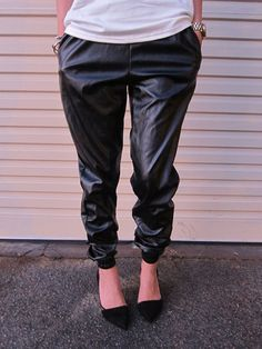 Givenchic Leatherette Track Pant