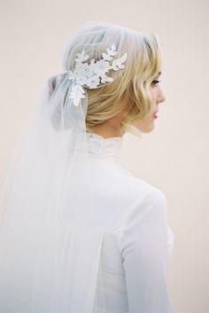 Lace Juliet Cap Veil - Chic Vintage Brides : Chic Vintage Brides