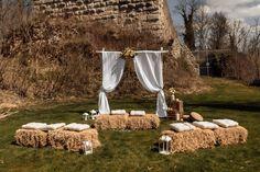 Straw Bales, Summer, Wedding