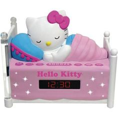 Sleeping Hello Kitty Alarm Clock Radio with Night Light //Price: $49.61 & FREE Shipping // World of Hello Kitty https://worldofhellokitty.com/product/sleeping-hello-kitty-alarm-clock-radio-with-night-light/    #toys