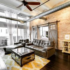 West Loop Apartments For Rent - Kali Center Chicago Lofts, Chicago Apartment, Apartment Sites, Rental Apartments, Exposed Brick Walls, Condos For Rent, Window Shutters, Sliding Glass Door, Large Windows