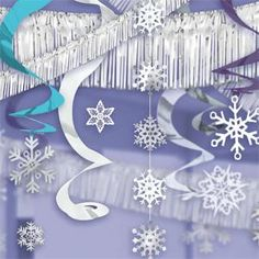 streamers banners snowflakes #winter #party
