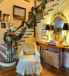 "The owner of ""Nell Hill's"" own entry hall in her home in Kansas."