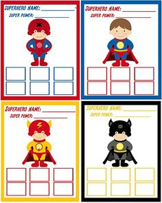 Such a cute idea. Enlisting help from friends to make up a name and super power!
