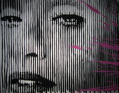 "Madonna Celebration by Mr Brainwash  Screen print (2012). Hand torn deckled edge archival art paper. Limited of 100.  Mr. Brainwash released ""Celebration"" for sale in 2012 after Madonna chose this image for the cover of her vinyl single, ""Celebration"" in 2009. Available in 3 different variations, this is the one-color screen print, hand-finished with spray paint and printed on hand torn deckled edge archival art paper. The print is signed, numbered and thumb printed by the artist."