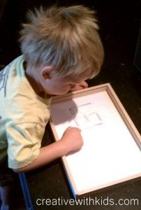 How to Teach Your Child to Write Their Name Using a Salt Sensory Tray