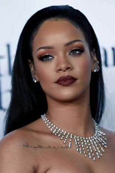 Rihanna is absolutely beautiful! Makeup perfection