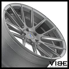 "20"" XO XF1 GUNMETAL FLOW FORM CONCAVE WHEELS RIMS FITS HONDA ACCORD COUPE #XO #xf1 #honda #accord #wheels #concave #vibemotorsports"