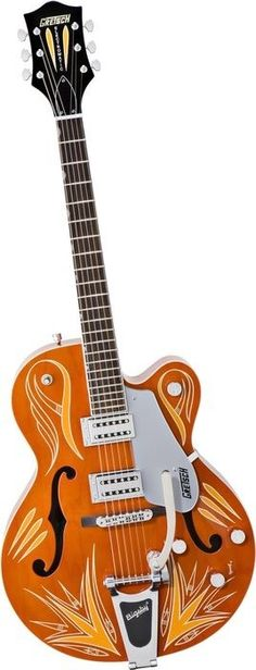 Gretsch Guitars G5120 Limited Edition Electromatic Hollowbody Orange w Tangerine Pinstriping