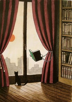 Two of my most favorite things - cats and books!