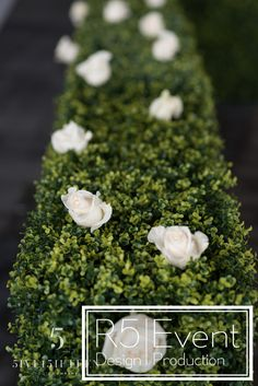 Beautiful white roses and green hedging decor- by Event Design Centerpiece Decorations, Wedding Decorations, Crystal Candelabra, Event Company, Bat Mitzvah, White Roses, Corporate Events, Event Design, Crystals