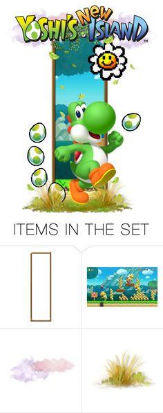 """Yoshi's New Island"" by girlinthebigbox ❤ liked on Polyvore featuring art, nintendo, videogame, Yoshi and yoshiisland"