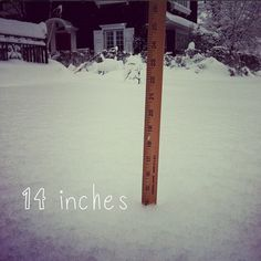 14 inches of snow