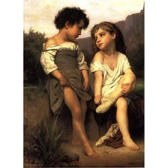High quality Hand Painted Art William Adolphe child oil painting on canvas modern painting Wall Decoration For living room Fine