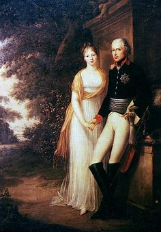 ca. 1794 King Friedrich Wilhelm III of Prussia with his consort Luise on Peacock Island by Friedrich Georg Weitsch