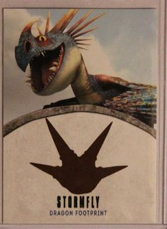 2014 Topps How To Train Your Dragon 2 Stormfly DRAGON FOOTPRINT AUTOGRAPH Auto