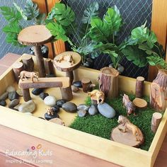 Our Sand & Sorting Tray is ideal for creating a small world animal play box. Montessori Activities, Preschool Activities, Early Childhood Centre, Early Childhood Education, Small World Play, Nature Table, Play Spaces, Backyard For Kids, Animals Of The World