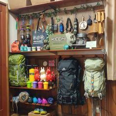 My Shelf/DIY/アウトドア/フェイクグリーン/登山/パンチングボード...などのインテリア実例 - 2017-02-09 04:31:12 Camping Gear, Camping Style, Hiking Gear, Camping Survival, Ultralight Backpacking Gear, Reloading Room, Garage Organization, Garage Storage, Storage Room