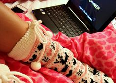 slipper socks are great to wear around the house and as substitutes for clunkier slippers Cozy Socks, Fluffy Socks, Fun Socks, Winter Socks, Slipper Socks, Slippers, Lingerie, Skinny, Looks Cool