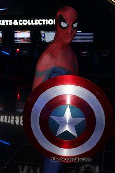 Spider-Man raising money for charity