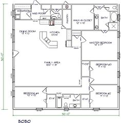 Barn House Workable Floor PlanAdd Huge Garageshop To End - Barn home plans blueprints