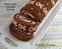 Breast Cancer Roll Cake