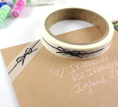 SHOP EXCLUSIVE hand drawn bakers twine bow washi tape jute