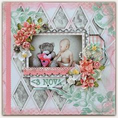 Paper and Glue Heaven: Last pages from Scraps of Elegance Jan kit using Kaisercraft 'Key to my Heart' and Heidi Swapp 'Mixed Company' Mixed Media Scrapbooking, Scrapbooking Layouts, Baby Scrapbook, Scrapbook Pages, Baby Canvas, Heidi Swapp, Key To My Heart, Layout Inspiration, Card Making