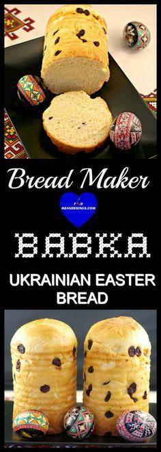 Make this Babka a light buttery slightly sweet delicate cake-like type of Ukrainian Easter bread in your bread maker! Easter Recipes, Dessert Recipes, Easter Food, Easter Bread Recipe, Easter Brunch, Easter Ideas, Holiday Recipes, Dinner Recipes, Babka Bread