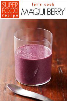【ELLE】今回のレシピ「マキベリー スムージー」|「マキベリー」―もっとも高い抗酸化スコアを誇るスーパーフルーツ|エル・オンライン