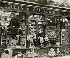 "Paris shop - many dolls found their ""mothers"" there once upon a time"