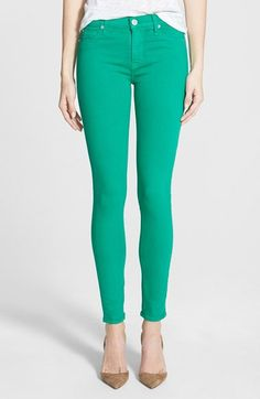 Hudson Jeans 'Nico' Skinny Stretch Jeans (Graceland Green) available at #Nordstrom