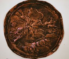 King Hunting in the Forest  Copper Hand Embossed by BelleAeva, $200.00  Great for a small wall in a small space or on a library book self.