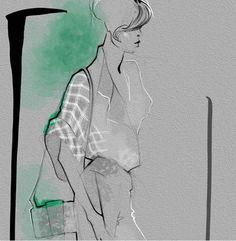 Illustration by Julija Lubgane | Architect's Fashion
