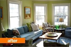 Before & After: 8 Living Room Makeover Projects From Our Archives