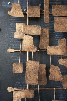 Abstract Metal Wall Sculpture BRONZE Pinterest Metal wall