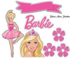 Barbie Theme, Barbie Cake, Barbie Top, Barbie Dolls, Bolo Barbie Paris, Barbie Party Decorations, Barbie Cartoon, Ballerina Painting, Barbie Birthday Party