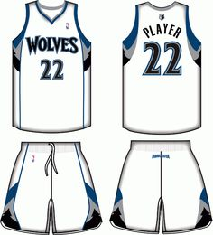 39c1491f5 Minnesota Timberwolves Home Uniform 2011- Present Minnesota Timberwolves