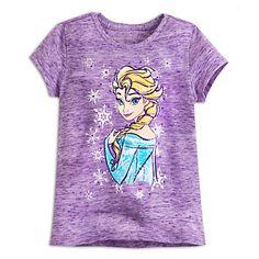 Elsa Slubbed Tee for Girls | Disney Store